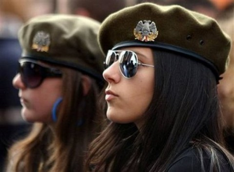 military_woman_serbia