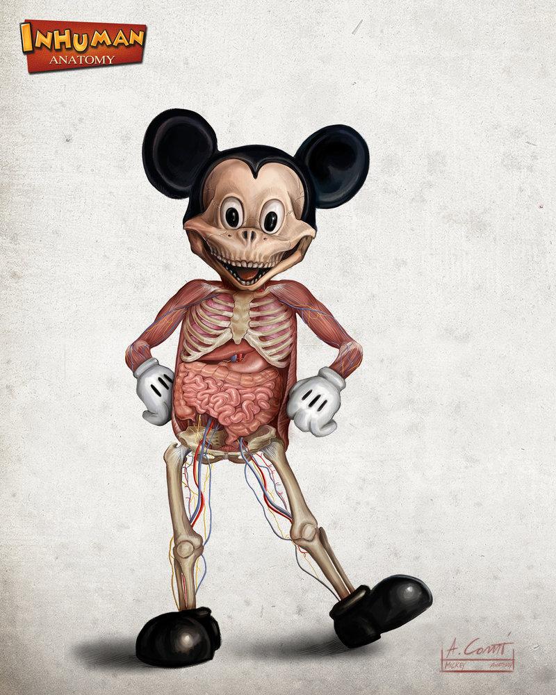 画像】ちょっと残酷かも…ディズニーの人気キャラクターの解剖イラスト